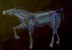 Blue Horse Peter Walker Sculptor