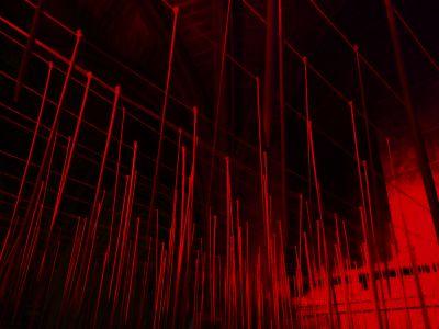 Peter Walker 'Yarn Front' Installation Lichfield Cathedral