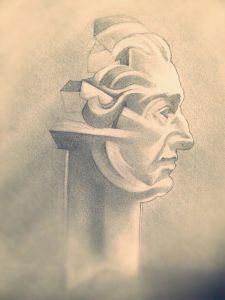 Peter Walker Sculptor David Garrick Sculpture Study