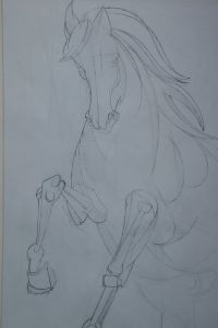 Peter Walker Sculptor Designing A Horse For Filberto