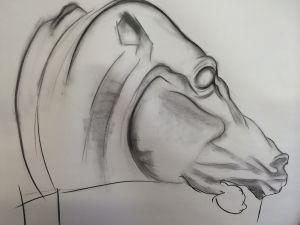 Peter Walker Sculptor Horse Study 13e