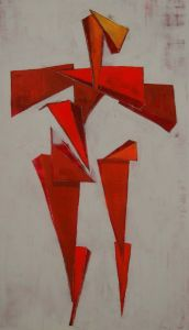 Peter Walker Sculptor Proportion Of The Human Figure Red And Orange