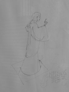 Study For St Chad Statue